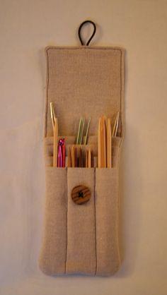 Knitting needle case sewing pattern PDF by AmandaLilleyDesigns