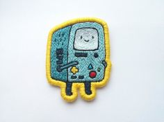 Beemo Adventure Time Embroidered Patch - Beemo Adventure Time Gift Brooch Applique Made-to-Order Cute Patches, Pin And Patches, Sew On Patches, Iron On Patches, Jacket Patches, Cosplay Anime, Emblem, Cute Pins, Stickers