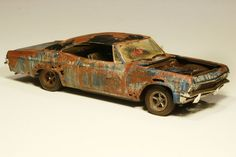 '65 Chevy Impala Barn Find Junkyard Weathered Rust 1/25 Revell