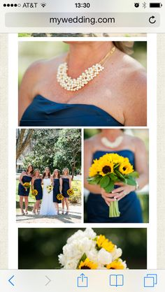 Loving navy, sunflowers, and cowgirl boots!!!