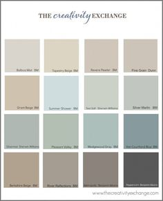 Collection of the most popular:pinned paint colors on Pinterest {Paint It Monday} The Creativity Exchange