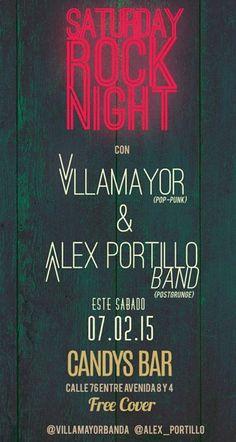 """Cresta Metálica Producciones » """"Saturday Rock Nigth"""" con Alex Portillo Band y VillaMayor en Maracaibo"""