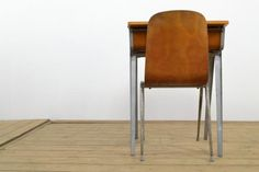 Vintage to James Leonard ESA classroom desk. Beautifully minimal design made from powder coated aluminium and beech ply. The bentply chair is by Neil Morris for Morris of Glasgow. Classroom Desk, Stacking Chairs, Mid Century Furniture, Minimal Design, Industrial Furniture, Glasgow, Minimalism, Retro Vintage, Furniture Design