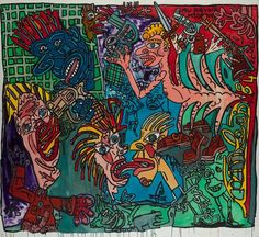 View AU REVOIR MR ORWEL By Robert Combas; acrylic on canvas; Access more artwork lots and estimated & realized auction prices on MutualArt. Bad Painting, Mural Painting, Mexican Colors, Neo Expressionism, Street Art, Ad Art, Conceptual Art, Magazine Art, Art Market