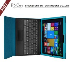 Promotion discount 2016 hot sale new design tablet case for Microsoft Surface 3 with high quality pu leather cover free shipping
