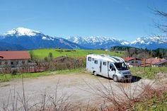 Reit im Winkl: Stellplatz mit Blick auf das Kaisergebirge. Empfohlen von http://www.janremo.de
