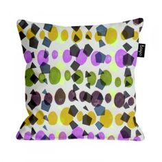 Spots and squares cushion