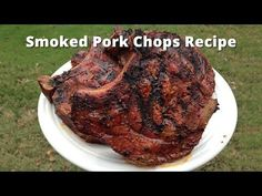 Smoked Pork Chops Recipe (Brine Recipe Included) Source by jeanbuurma Grilling Thick Pork Chops, Thick Cut Pork Chops, Smoked Pork Chops, Pork Loin Chops, Smoked Ribs, Pork Chop Brine Recipes, Grilling Recipes, Pork Recipes