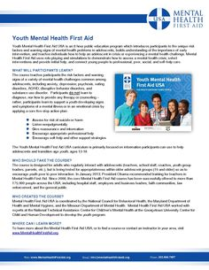 Youth Mental Health First Aid Overview