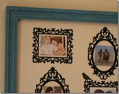 vinyl cutouts in frame - - cheap easy art for the wall