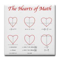 I love math.  Heart Curves Tile Coaster