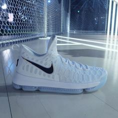 KD 9 in white Flyknit debuted this past week at the Nike Innovation For Everybody event in NYC. For the latest info on the KD 9, head to SneakerNews.com.