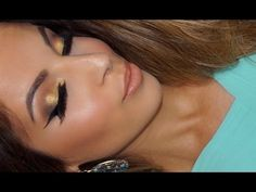 Formal | Elegant | Prom Makeup Tutorial | Golden Smokey Eye - YouTube Golden Smokey Eye, Prom Makeup Tutorial, Prom Make Up, Makeup For Blondes, Makeup Looks, Hair Makeup, Eyes, Elegant, Formal