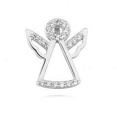 Stříbrný přívěsek - anděl 15 mm se zirkony Engagement Rings, Jewelry, Jewellery Making, Enagement Rings, Jewelery, Engagement Ring, Jewlery, Jewels, Diamond Engagement Rings