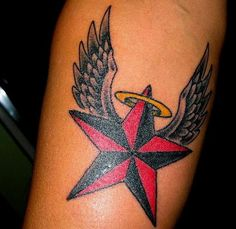Nautical Star Tattoo.. But diff colors