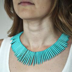 Tribal Queen Necklace Turquoise now featured on Fab.
