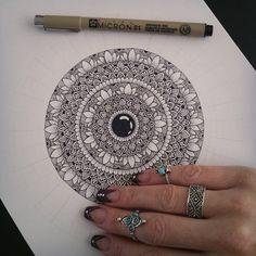 ~Work in progress~✍  A4 mandala drawing ♡  •  •  •  •  #mandala #mandalaart #mandalastyle #mandalas #mandaladrawing #lovedrawing #zentangle #drawing #doodle #dotwork #letstanglehere #drawaddiction #zentanglekiwi