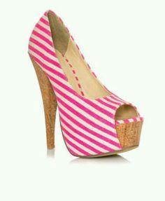 b9c06b621396 Peep Toe meets Stripes Pink Heels