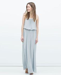 ZARA - WOMAN - LONG DRESS WITH APPLIQUÉ NECKLINE