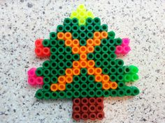 Christmas tree giant hama bead Christmas decoration. . Kids loved making these!