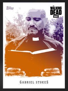 Topps Walking Dead Card Trader Illustrated Purple Orange Gabriel Stokes Digital | eBay