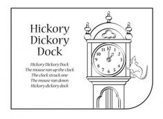 find this pin and more on nursery rhymes hickory dickory dock lyrics and colouring