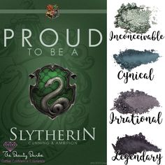 I'm absolutely obsessed with these Harry Potter themed makeup palettes from Younique! Get it at www.TheBeautyBarbie.com #makeupobsessed #slytherin