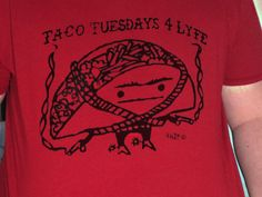 Taco Tuesdays For Lyfe TShirt Chili Pepper Red by supah on Etsy