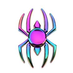Rainbow Spider Skull Fidget Spinner Metal Alloy Hand Spinner for Autism and ADHD Fidget Toy for Decompression