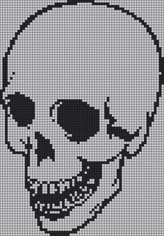 29 ideas for knitting charts skull alpha patterns Crochet Skull Patterns, Beading Patterns, Knitting Blogs, Knitting Charts, Knitting Patterns, Learn Embroidery, Cross Stitch Embroidery, Cross Stitch Designs, Cross Stitch Patterns