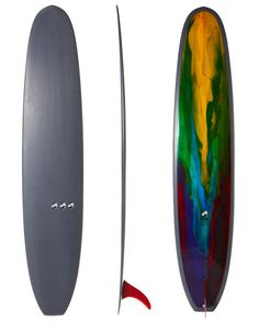 THOMAS SURFBOARDS OLD FAITHFUL SURFBOARD - MULTI COLOUR ABSTRACT BOTTOM PIGMENT DECK