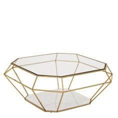 Coffee Table Asscher Gold 109113