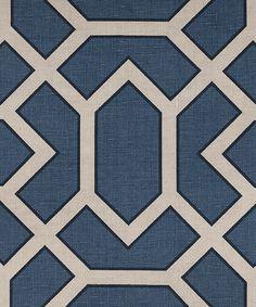 PARAVENTO AZUL from the VANDERHURD AZUL COLLECTION. #blue #textiles #handprint
