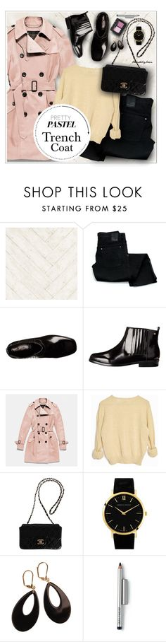 """""""Pretty Pastel Trench Coats"""" by trendsbybren ❤ liked on Polyvore featuring Andrew Martin, Coach, Chanel, Larsson & Jennings, L. Erickson, Laura Mercier, NARS Cosmetics, women's clothing, women's fashion and women"""
