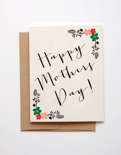 Happy Mothers Day Card by Emmasinvites on Etsy, £2.00