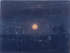 Moonlight, Church's Farm ~ Frederic Edwin Church, 1865.