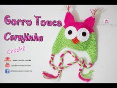 Gorro/Touca de Crochê Coruja - passo a passo - Professora Simone