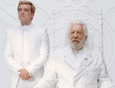 Peeta and President Snow in Mockingjay Part 1 still. Excuse me while I go cry.