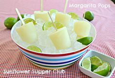 Margarita Popsicles ~ Perfect on a hot summer day!