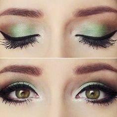 Green Shaded Eye Makup