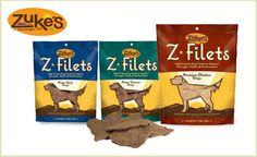 With this deal you'll get three 3.25oz bags of Z-Filets high-protein dog treats from Zuke's. The folks at Zuke's know your pup needs his protein, so these treats are made of more than 80% pure beef or chicken. They provide big-time support for strong muscles and sturdy bones. Does your dog have allergies? The treats are free of wheat, corn and soy. You may notice an energy boost! $12