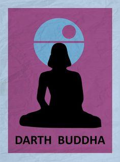 """Darth Buddha"" - Dante Holmes©  #illustration #elartedeladistorsión #creemosenelasombro"