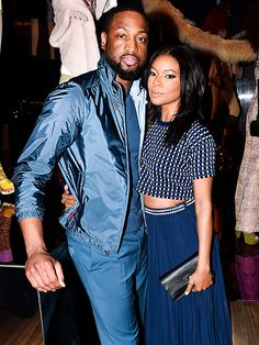 Star Tracks: Friday, February 13, 2015 | FEELING BLUE | Gabrielle Union and Dwyane Wade stay close at a Prada event in N.Y.C. on Thursday.