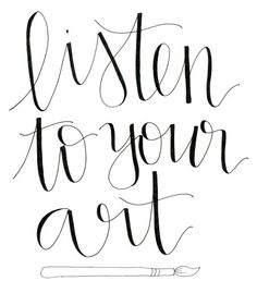 """""""Listen to your art."""" One of three awesome FREE Wall Decor Printables! Awesome craft inspirations for your craft room, dorm room, or anything else. Put them in a custom DIY painted frame as a special gift for your favorite crafter! Craft Quotes, Wall Decor Quotes, Printable Crafts, Printable Quotes, Free Printables, Craft Room Closet, Positive Energie, Artist Quotes, Happiness"""