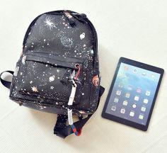 "Harajuku fashion galaxy printing stars backpack Coupon code ""cutekawaii"" for 10% off"