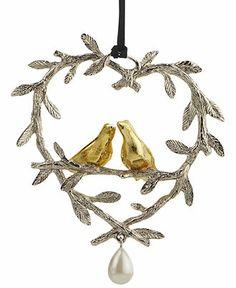 Michael Aram Christmas Ornament, Lovebirds - Christmas Ornaments - Holiday Lane - Macy's