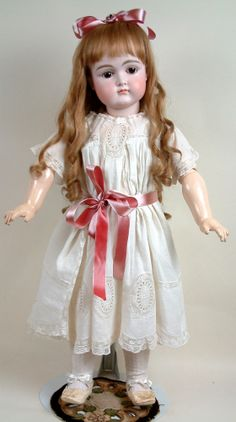 """Incredibly Lovely 27\"""" Early Kestner Closed Mouth Child Doll C. 1880 With XI Face"""