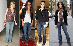 Inspirada no guarda-roupa social, a calça reta não marca o corpo, criando um visual mais sofisticado, perfeito para mulheres tradicionais.  #jeans #famous #trend