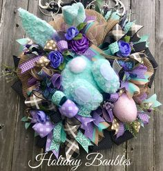 Easter Bunny Wreath by Holiday Baubles