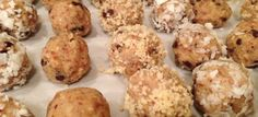 Dark Chocolate Macadamia Nut Cookie Dough Paleo Balls